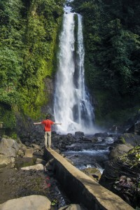 One of the Gitgit waterfalls in Northern Bali, Indonesia